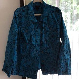 Denim print jacket